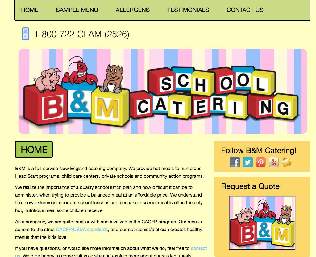B&M School Catering