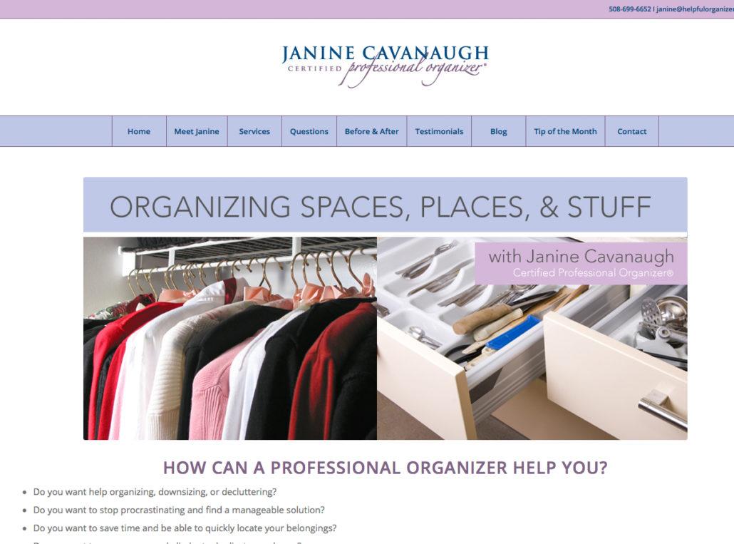 Janine Cavanaugh, Certified Professional Organizer