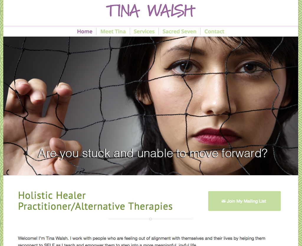Tina Walsh: Holistic Healer Practitioner/Alternative Therapies