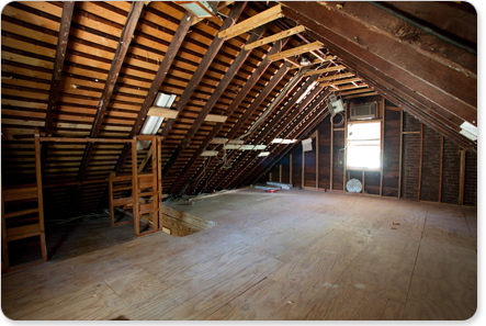 Attic in a house home design - Insulating exterior paint minimalist ...